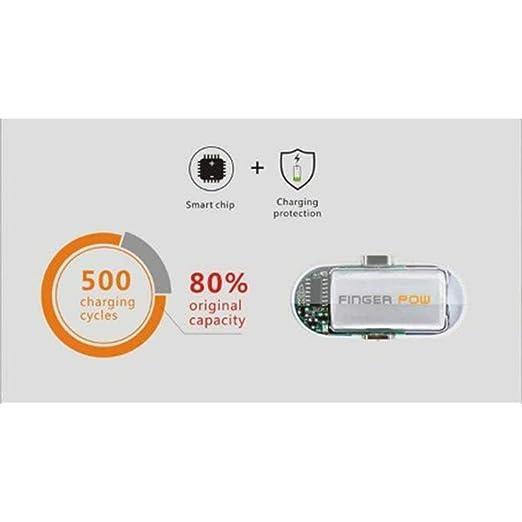 T Finger Pow 5000mAh Potencia móvil, Cargador móvil portátil, batería Externa, 5V 2A para iPhone/iPad / Samsung/Dispositivo Android/Tableta: Amazon.es: ...