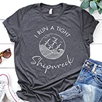 I Run a Tight Shipwreck | Funny Mom T-Shirt | Mom Life Shirts | New Mom | Mom of Twins | Graphic Tees | Mom of Multiples | Shirt for Mom