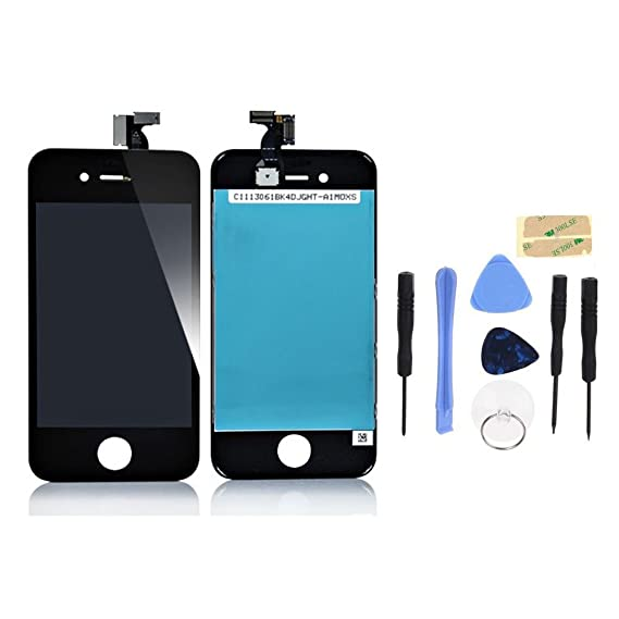 new concept ba28d 028fd Apple iPhone 4S Black LCD & Digitizer Touch Screen Assembly Replacement Part