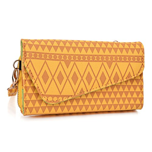 Micromax Bolt A71 Tribal Inspired Wristlet Cell phone/Card/ Cash holder for Women (Micromax Bolt A71)