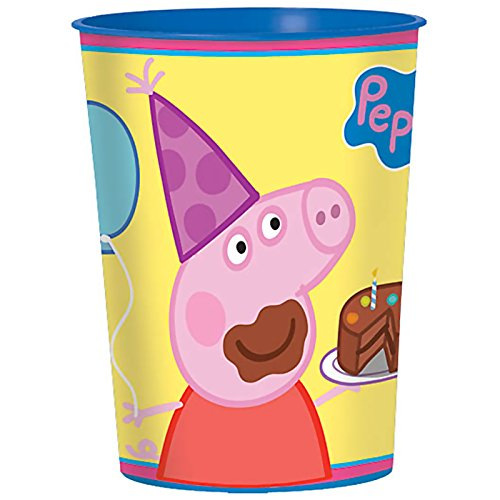 Peppa Pig Plastic Cup (BirthdayExpress Peppa Pig Party Supplies 16 Pack Favor)