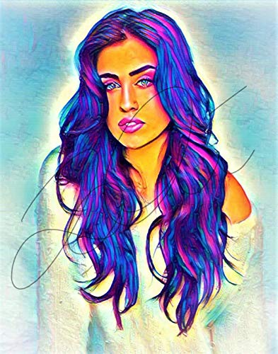 Lauren Jauregui Abstract Drawing Print Poster Hand Drawn Pop Art Vibrant Painting #LAUREN_ABSTRACT5
