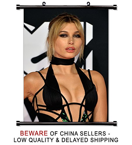 Hailey Baldwin Sexy Model Fabric Wall Scroll Poster (16 x 24) Inches