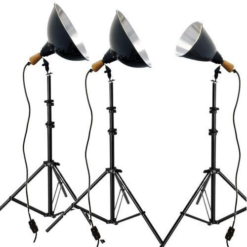(Impact Tungsten Three-Floodlight Kit with 6' Stands)