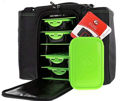 6 Pack Fitness Bag Innovator 500 Black/Neon Green (5 Meal) by 6 Pack Fitness (Image #4)