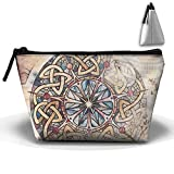 Trapezoid Portable Travel Toiletry Pouch Tarot Glasses Cosmetic Bags Multifunction Clutch Bag