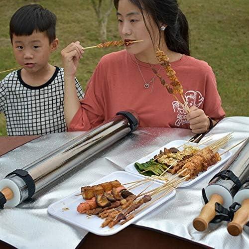 BBQ extérieur Portable Solar Power Grill monotube Camping Four Poêles Barbecue gratuit Centre de cuisson de cuisson Ustensiles de cuisine sous vide Tube pour Voyages et Camping