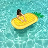 Generic Water Giant Inflatable Pineapple Lounge Float Bed Raft Floating Mat Swimming Pool Toy 180x90cm