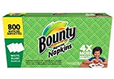 Bounty Paper Napkins White 800ct - Lunch, Dinner, Everyday, - Family Pack