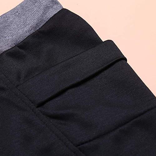 Bolsillos Para Con Cintura Negro De Al Deportivos Moda Chándal Estilo Ocio Elástica Libre Simple Pantalones Aire Hombres Entrenamiento SUqRFwWqX