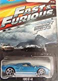 HOT WHEELS 2015 FAST AND FURIOUS RELEASE EXCLUSIVE BLUE FORD GT-40 #8/8 DIE-CAST