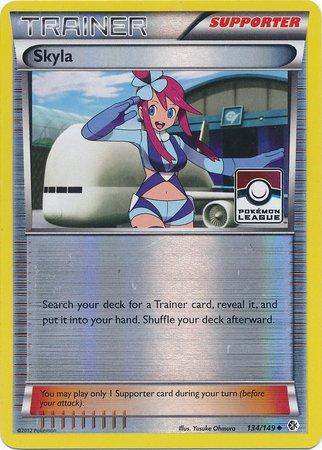 Pokemon - Skyla (134/149) - BW - Boundaries Crossed - Reverse Holo - League Promo