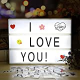 Lightbox | infinitoo A4 Cinema Light Boxes with 98 Letters and 28 White Symbols 55 Colorful Emojis for Interior Lighting Decoration, Mood Lighting, Night Orientation Light, Party and House Decoration