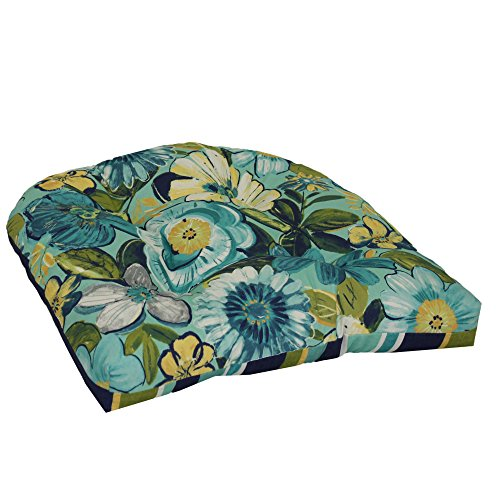 Brentwood Originals Indoor/Outdoor Chair Cushion Brentwood, Robin Point Aqua, 1 piece (Brentwood Cushions)