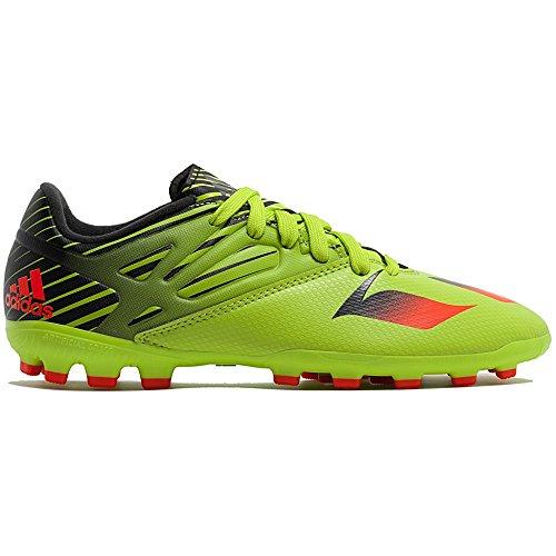 adidas Messi 15.3 AG J, Chaussures de Football Mixte Bébé Vert / Rouge / Noir (Seliso / Rojsol / Negbas)