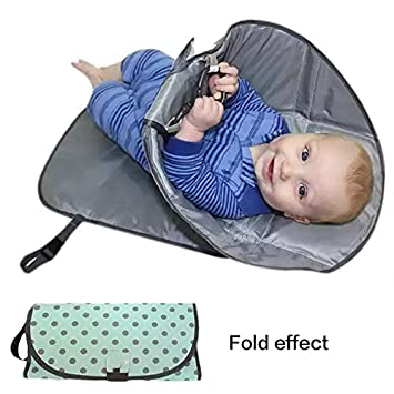 BTR Baby Portable Fold Up Travel Nappy Changing Mat With Waterproof Pocket