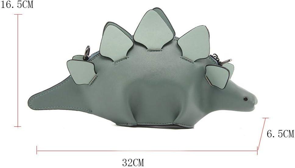 Linlin Women Purses Crossbody Dinosaur Clutch Handbags Shoulder Bag for Girls Pink