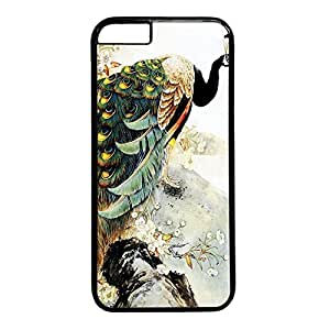 Peacock Custom Back Phone Case for iphone 6 4.7 PC Material Black -1218013