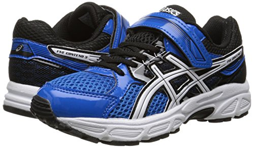 ASICS Pre Contend 3 PS Running Shoe (Little Kid), Electric Blue/White/Black, 11 M US Little Kid