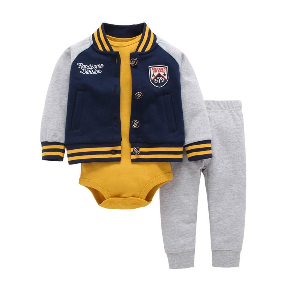 Hibasing Vielzahl von Babykleidung Jungen und M/ädchen lang/ärmeliger Kapuzenpullover dreiteilig
