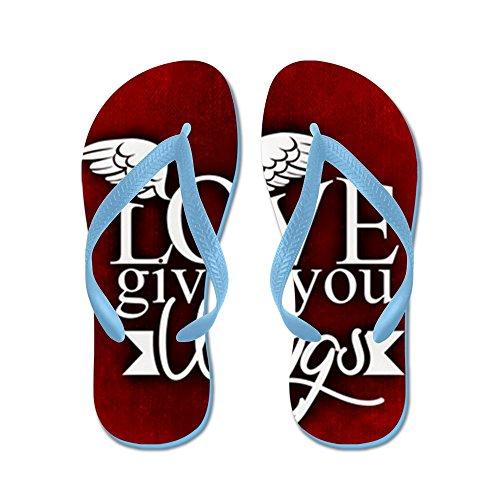 Lamour Des Hommes Teague Vraiment Vous Donne Des Ailes Flip Flops Sandales Caraïbes Bleues