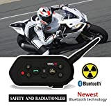 Original EJEAS E6 Motorcycle Helmet Bluetooth Intercom Two Riders 1200M Hemlet Headset Riding Intercom Motor Interphone For Outdoor Sports Motorbike Skiing Camps Instant Communication Purpose