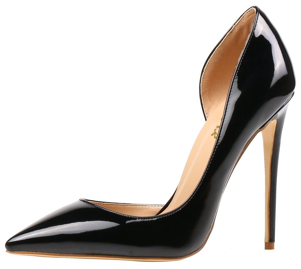 AOOAR AP37 - Zapatos de Vestir de Sintético para Mujer 42 EU|Schwarz/Lackleder
