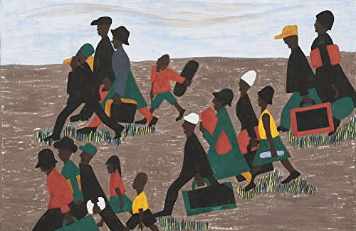 Jacob Lawrence Giclee Canvas Print Paintings Poster Reproduction The migrants arrived in great numbers