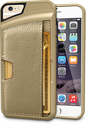 Silk iPhone 6/6s Wallet Case - Q CARD CASE [Slim Protective CM4 Credit Card ID Phone Cover] - Wallet Slayer Vol.2 - Champagne Gold