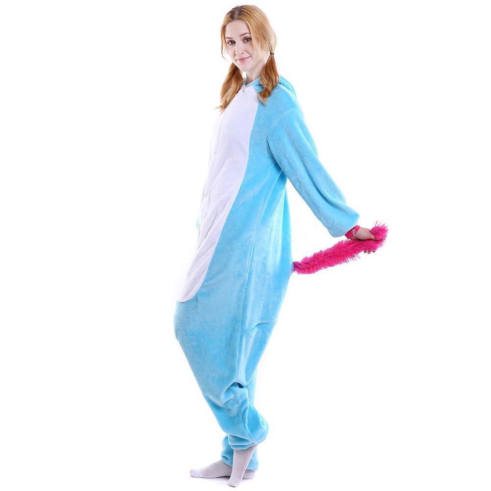 LSERVER Adulte Pyjama Animal Combinaison Cosplay Costume Unisexe Pyjamas Tenue Onesie Outfit Nuit D/éguisement
