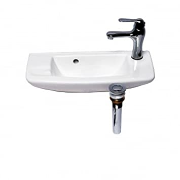 Renovators Supply Small Wall Mount Bathroom Vessel Sink White 20