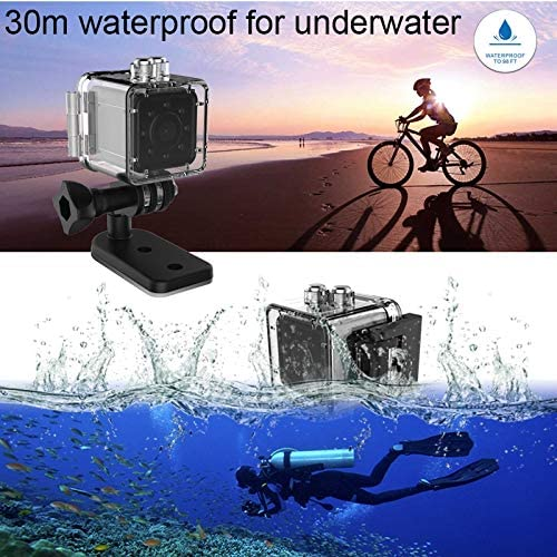 Support IR Night Vision Durable Color : Red SQ13 Ultra-Mini DV Pocket WiFi 1080P 30fps Digital Video Recorder Camera Camcorder with 30m Waterproof Case