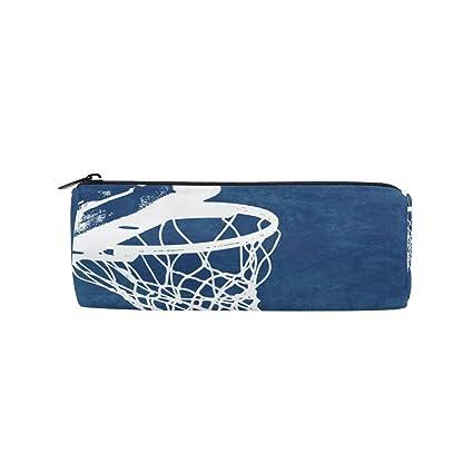 Malpleda - Estuche redondo para bolígrafos de baloncesto: Amazon ...