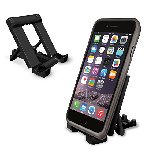 BaseZip - Bundle para iPhone 5 / 5S �?Funda de Gel Silicona NEGRO para iPhone 5 / 5S & Stand Negro