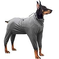 LIANZIMAU Hondenherstelpak, onesie met benen, lange mouwen, ademend, beschermend, wondkegel, alternatieve chirurgische…