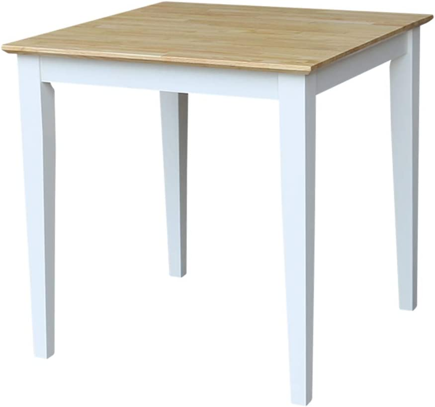 International Concepts Solid Wood Dining Table with Shaker Legs, White Natural