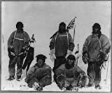 Photo: Terra Nova expedition, South Pole, R Scott, L Oates, H Bowers, E Wilson, E Evans, 1912 . Size
