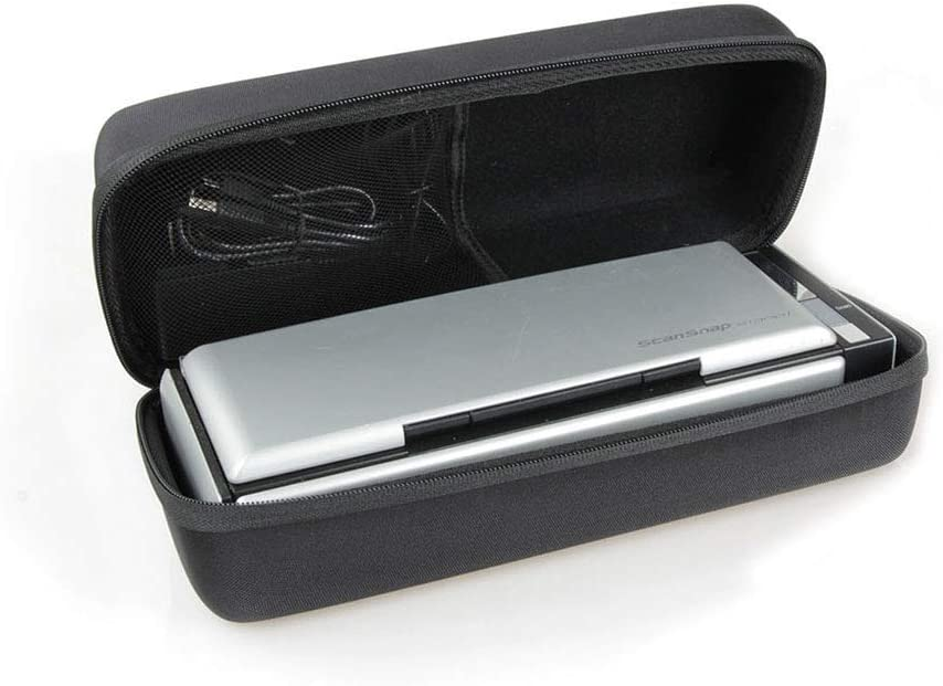 Hermitshell Hard EVA Protective Travel Case Fits Fujitsu ScanSnap S1300i Mobile Document Scanner