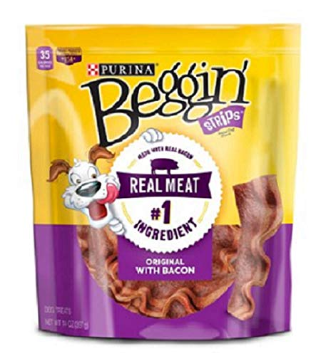Purina Beggin' Strips Adult Dog Treats - 40 oz. Pouch (Original with Bacon, 5 Pack (Each 14 oz.))