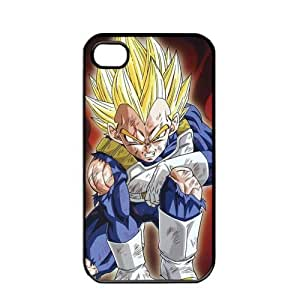 Dragon Ball Manga Comic Slim Vegeta Apple iPhone 4 / 4s TPU Soft Black or White case (Black)