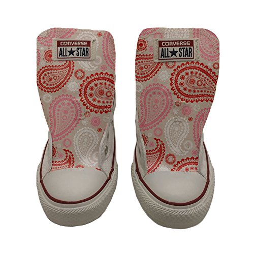 Artesano Customized personalizados Pink All Producto Star zapatos Converse Paisley Red ZOPTqx