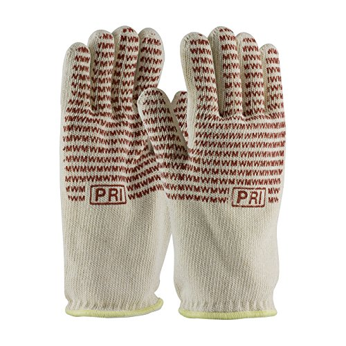 Mill Hot Knit (Double-Layered Cotton Seamless Knit Hot Mill Glove with Double-Sided EverGrip Nitrile Coating - 32 oz 43-802S, (8))