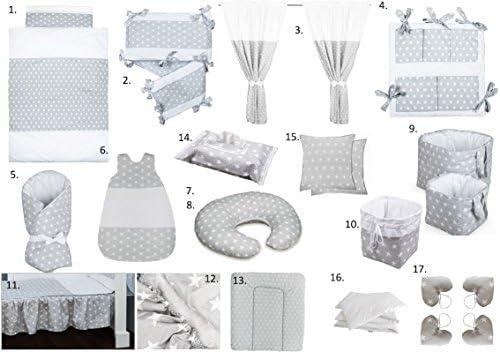 Vizaro - Pack Textil Ropa Hogar Bebé Completo 24 artículosCuna 60x120cm - Algodón Puro - Hecho UE, OekoTex - Estrellitas: Amazon.es: Bebé