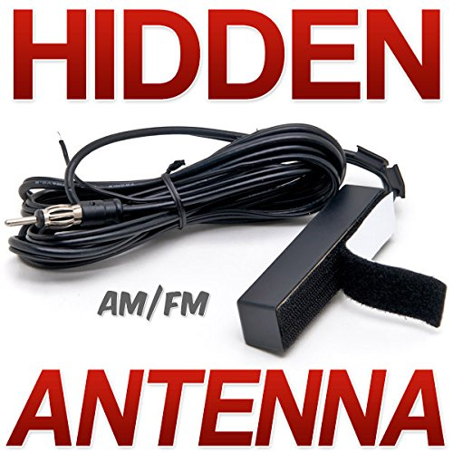 Krator Hidden Antenna - Fits Car, Truck, Motorcycle, Harley, Boat, Golf Cart, Campers, Amplified Antenna AM FM WB Universal Fit For All Applications AM FM Car Radio Stereo Windshield Hidden (Motorcycle Motor Car)