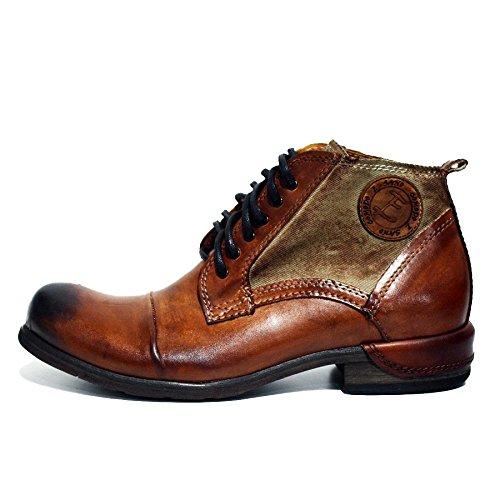 Modello Oreto - Handmade Colorful italiennes en cuir Shoes Chaussures Casual Formal Unique Vintage premium Bottes lacŽes Hommes Hauts