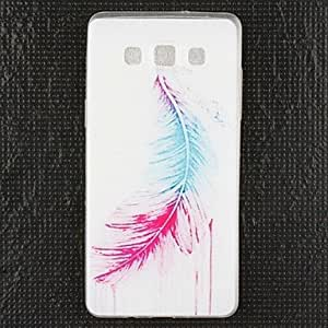 qyf Colourful Feathers Silicone Back Case for Samsung Galaxy A5