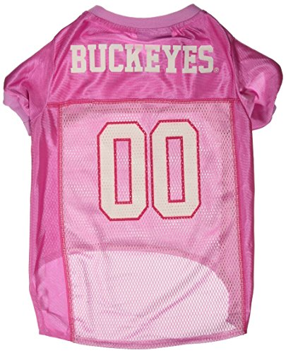 Mirage Pet Products Ohio State Buckeyes Jersey for Dogs and Cats, Large, Pink