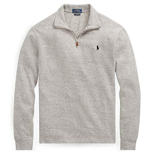 Polo Ralph Lauren Mens 1/2 Zip Striped Knit Sweater-Andover Heather-2XL ()