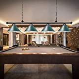 "Wellmet 70"" Pool Table Lights, 4 Lights Hanging"