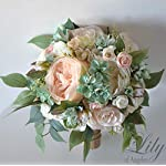 Wedding-Bouquet-Bridal-Bouquet-Bridesmaid-Bouquet-Silk-Flower-Bouquet-Wedding-Flower-peach-blush-pink-mint-green-Lily-of-Angeles